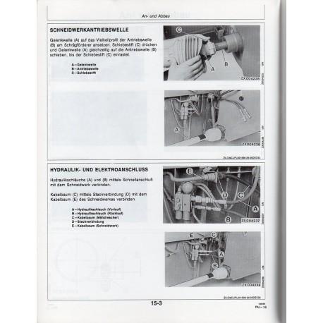 Bedienungsanleitung für Mähdrescher Schneidwerk John Deere 800er