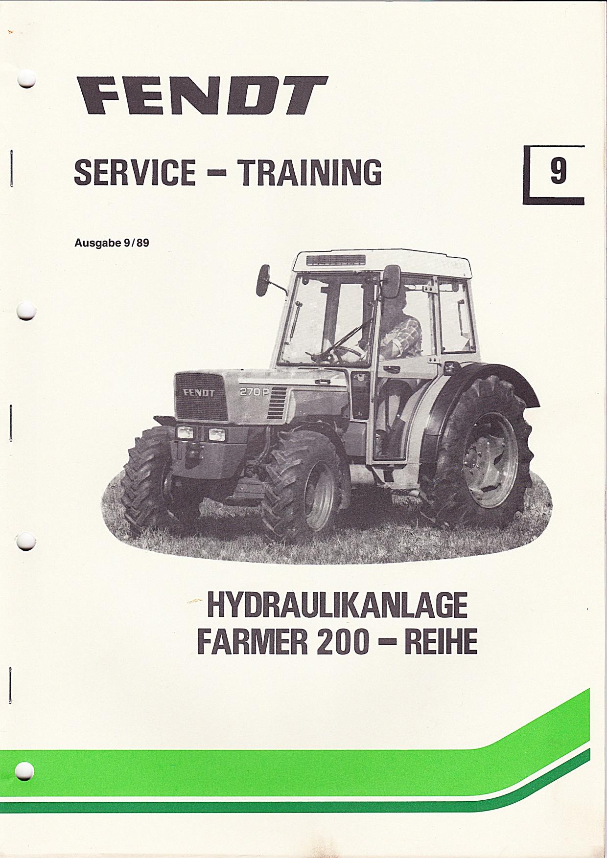 Fendt Service und Training Nr. 9 Hydraulikanlage Farmer 200 - Reihe