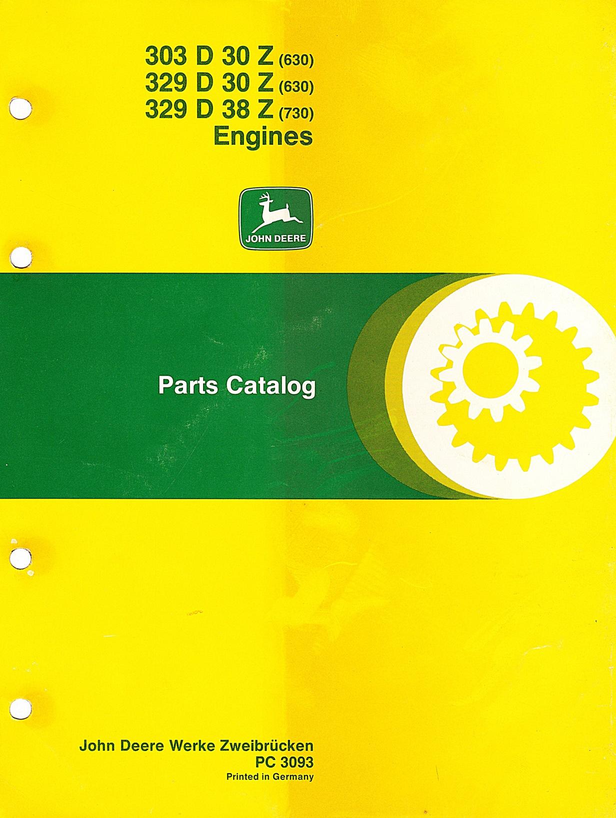 Ersatzteilkatalog John Deere Motoren 630 und 730