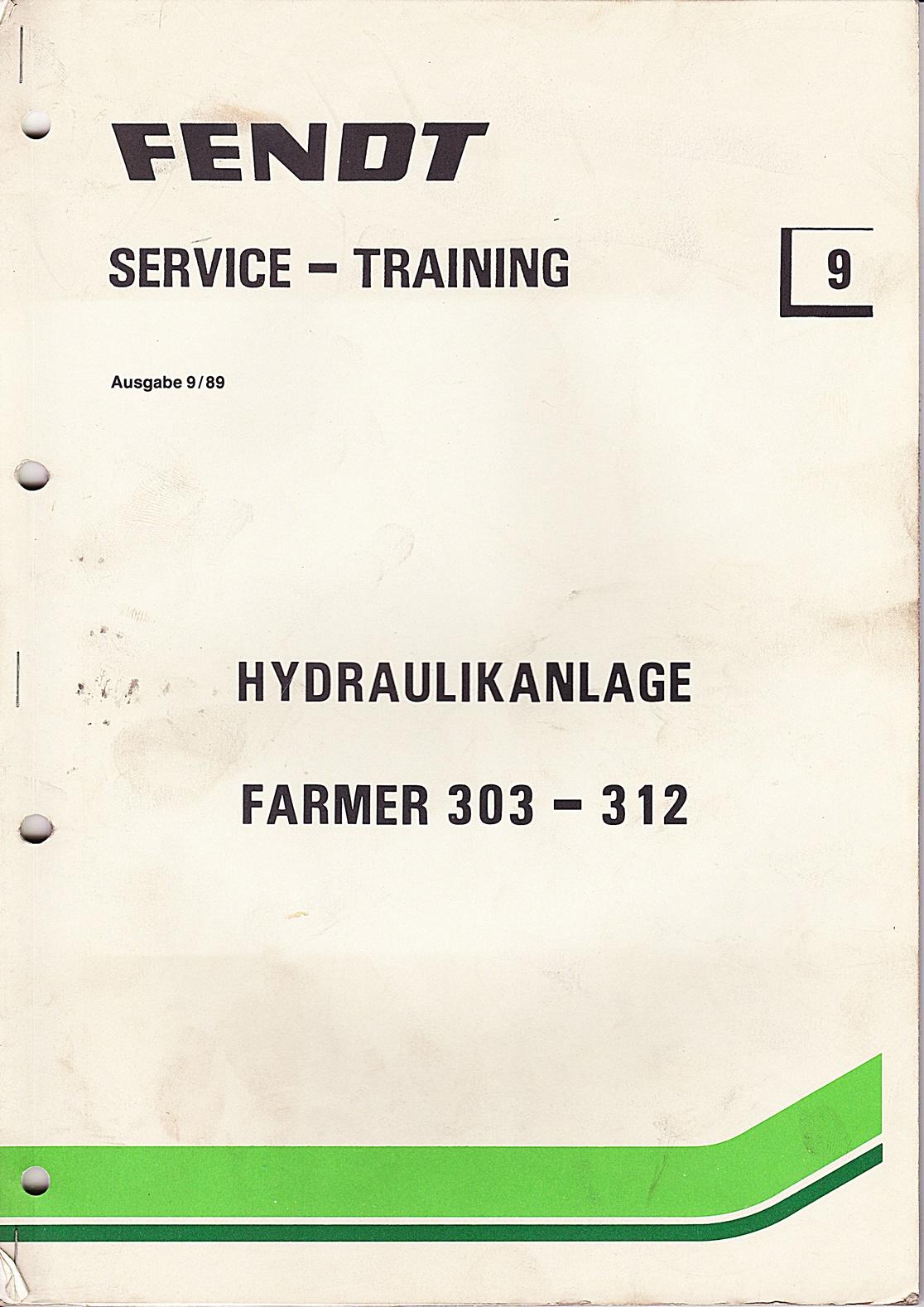 Fendt  Service und Training Nr. 9, Hydraulikanlage Farmer 303-312