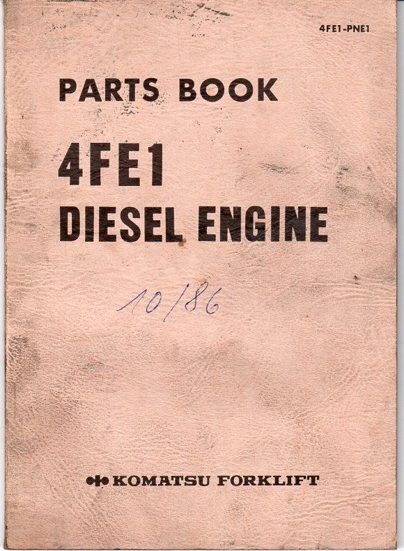 Komatsu 4FE1 Dieselmotor Ersatzteilliste