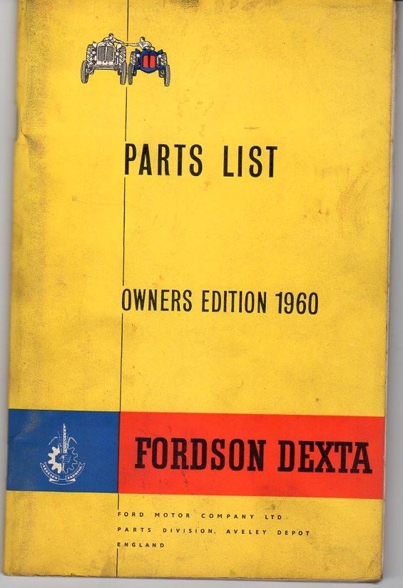 Traktor Ford Dextra Ersatzteilliste