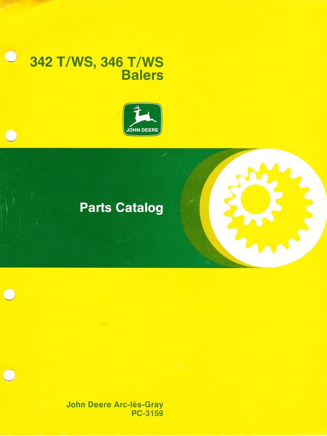 Ersatzteilkatalog John Deere Ballenpresse 342 T/WS, 346 T/WS