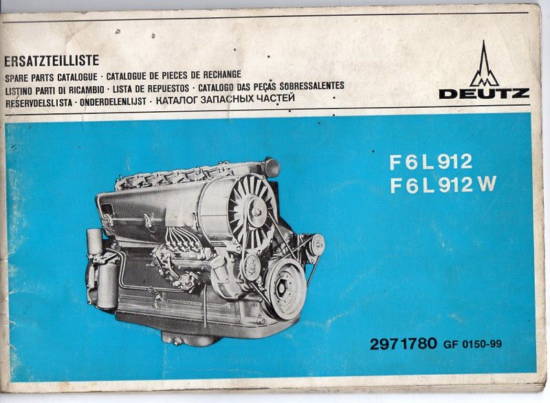 Ersatzteil-Katalog Motoren Deutz F6 L912