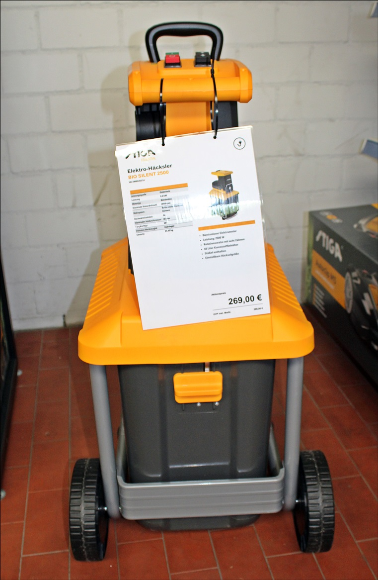 Stiga Elektro-Häcksler BIO Silent 2500