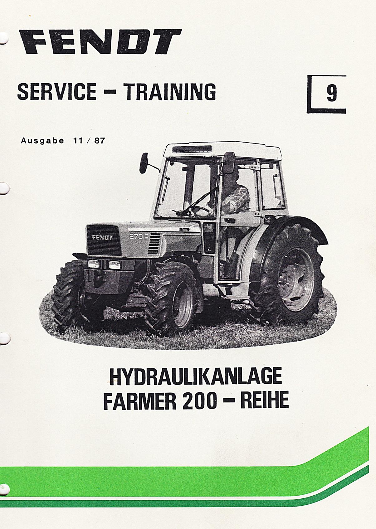 Fendt  Service und Training Nr. 9, Farmer 200 - Reihe