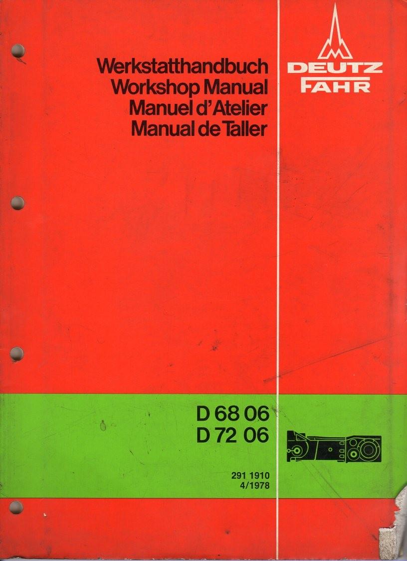 Deutz D 68 06, D72 06 Werstatthandbuch