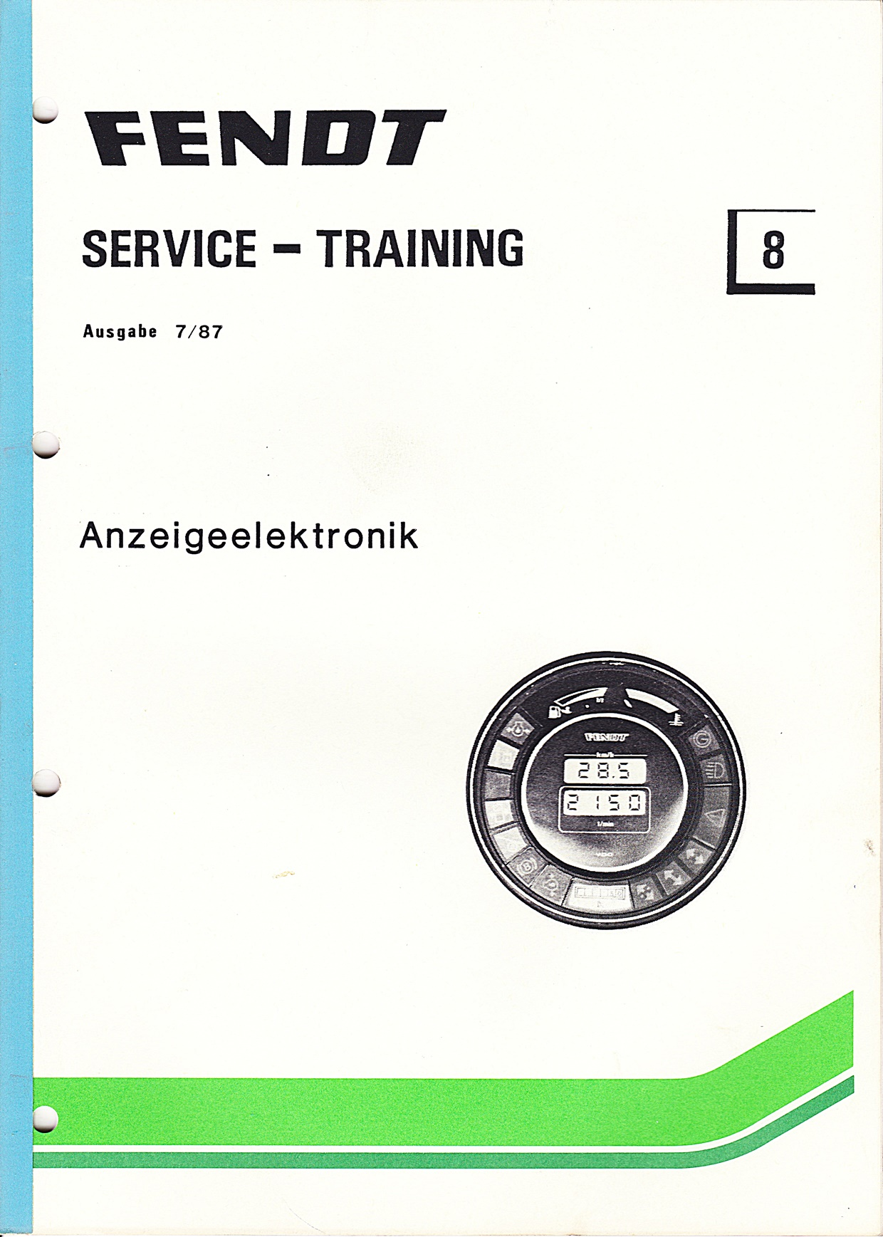 Fendt Service - Training Nr.8, Anzeigeelektronik