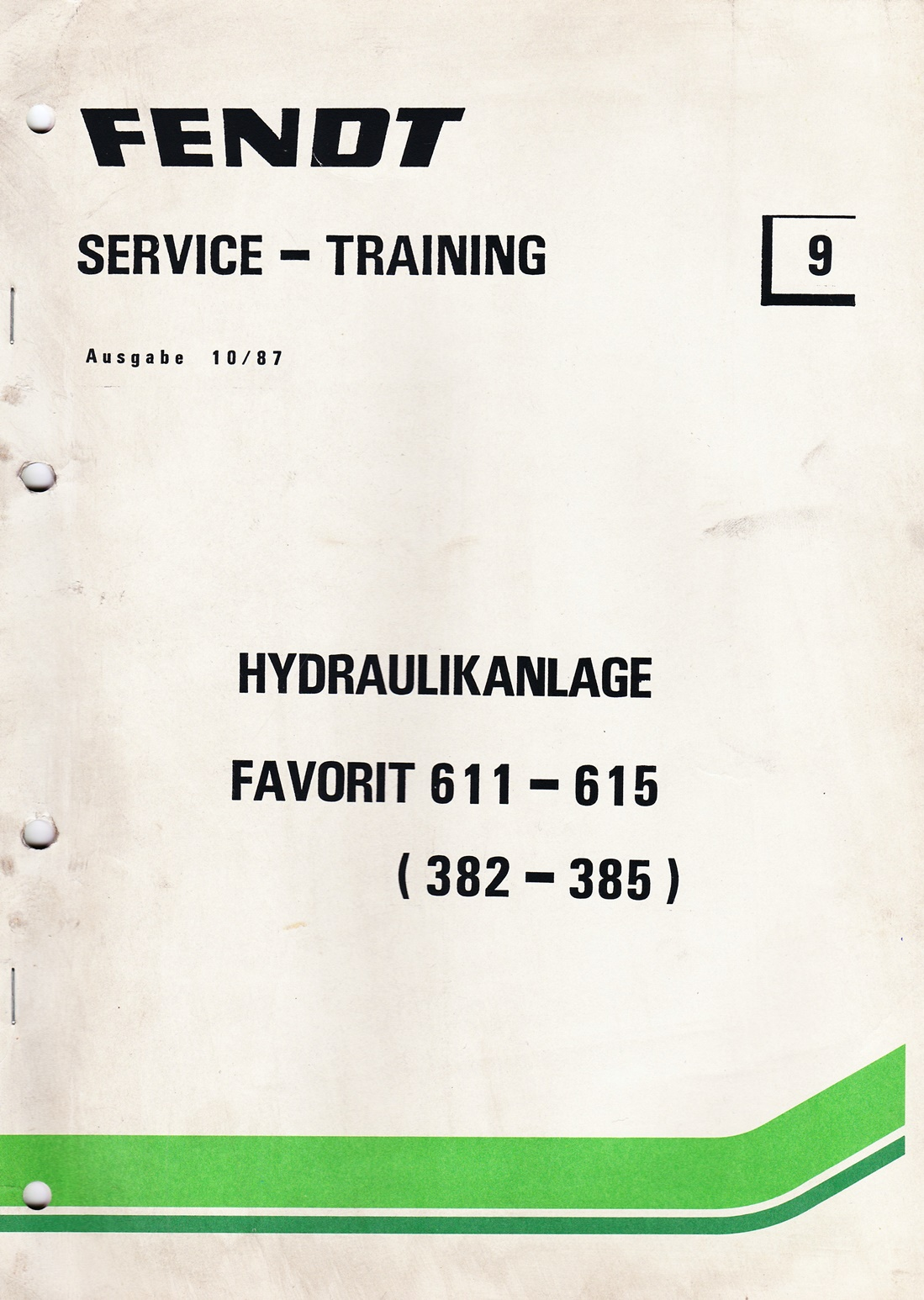 Fendt  Service und Training Nr.9, Hydraulikanlage Favorit 611 - 615