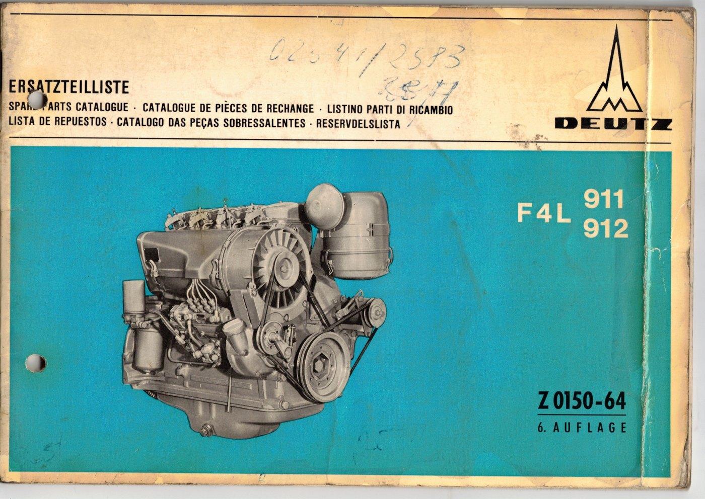 Ersatzteilliste Deutz F4L 911 - 912