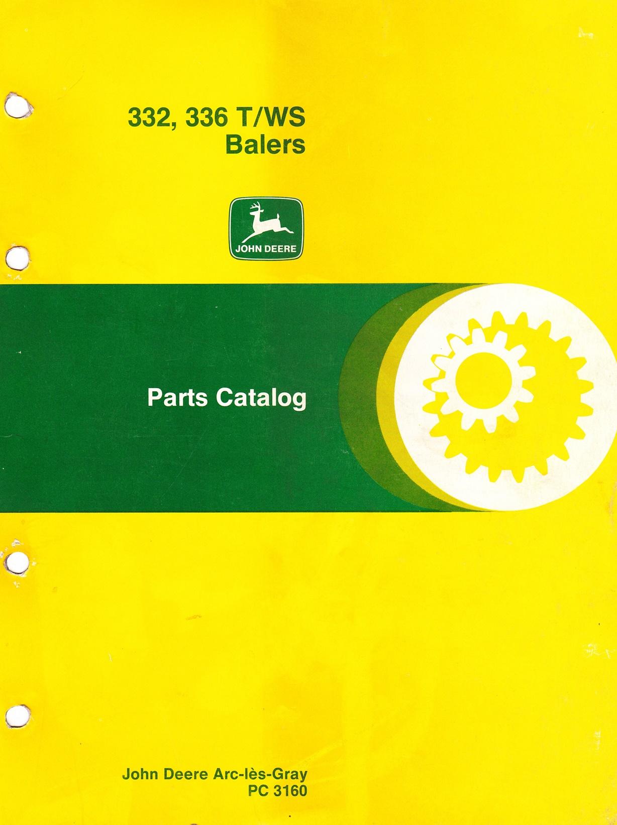 Ersatzteilkatalog John Deere Ballenpresse 332, 336 T/WS
